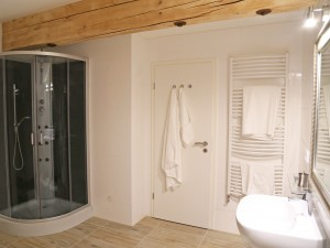 Ferienwohnung Gipfelglühen Bad mit Dusche