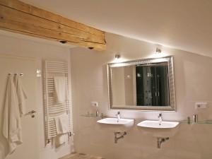 Ferienwohnung Gipfelglühen Bad mit Handtuchwärmer