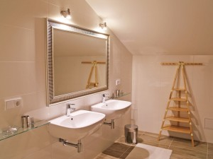 Ferienwohnung Gipfelglühen Bad mit Spiegel