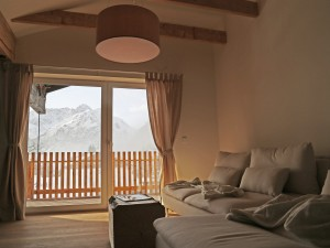 Ferienwohnung Gipfelglühen Aussicht Couch Widderstein