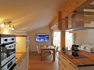 Ferienwohnung Gipfelglühen Küche