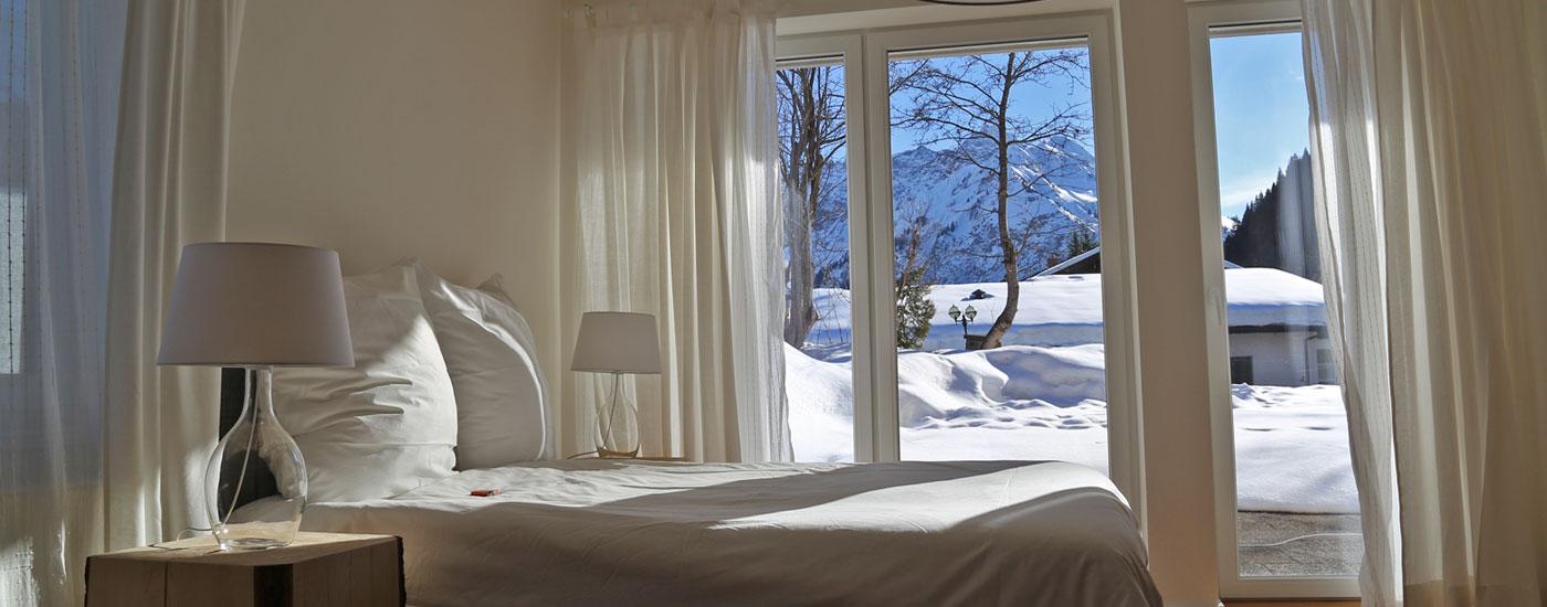 Ferienwohnung Kleinwalsertal Talgruen Schlafzimmer 01 16