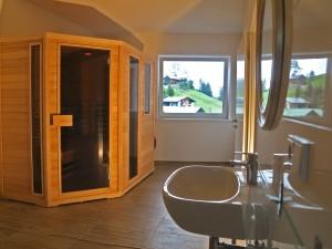 Ferienwohnung Kleinwalsertal Talgruen Sauna 1